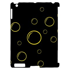 Yellow bubbles Apple iPad 2 Hardshell Case (Compatible with Smart Cover)