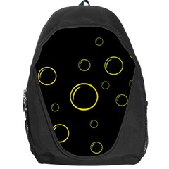 Yellow bubbles Backpack Bag