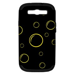 Yellow bubbles Samsung Galaxy S III Hardshell Case (PC+Silicone)