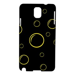 Yellow bubbles Samsung Galaxy Note 3 N9005 Hardshell Case