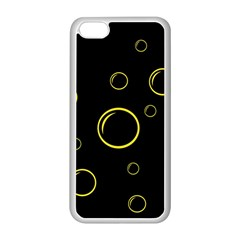 Yellow bubbles Apple iPhone 5C Seamless Case (White)