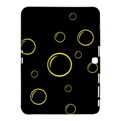 Yellow bubbles Samsung Galaxy Tab 4 (10.1 ) Hardshell Case