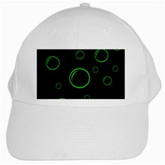 Green buubles pattern White Cap