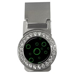 Green buubles pattern Money Clips (CZ)