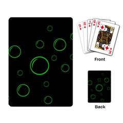 Green buubles pattern Playing Card
