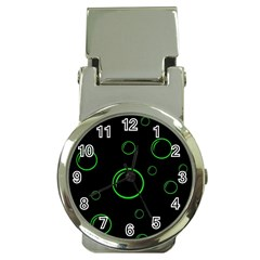 Green buubles pattern Money Clip Watches