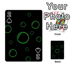 Green buubles pattern Playing Cards 54 Designs