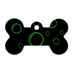 Green buubles pattern Dog Tag Bone (Two Sides)