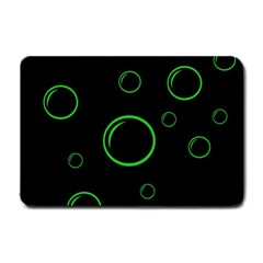 Green buubles pattern Small Doormat