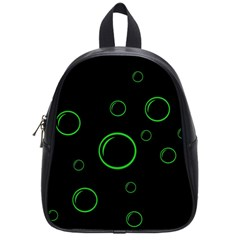 Green buubles pattern School Bags (Small)