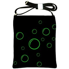Green buubles pattern Shoulder Sling Bags