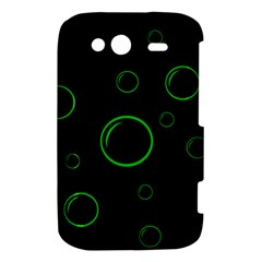 Green buubles pattern HTC Wildfire S A510e Hardshell Case