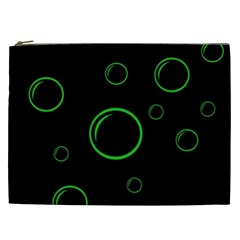 Green buubles pattern Cosmetic Bag (XXL)