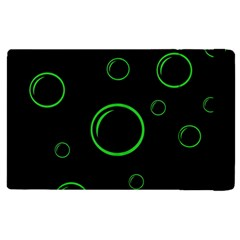Green buubles pattern Apple iPad 3/4 Flip Case