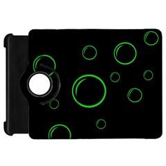 Green buubles pattern Kindle Fire HD Flip 360 Case