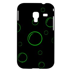 Green buubles pattern Samsung Galaxy Ace Plus S7500 Hardshell Case