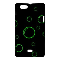 Green buubles pattern Sony Xperia Miro