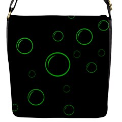 Green buubles pattern Flap Messenger Bag (S)