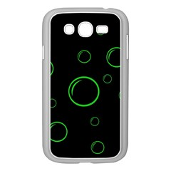 Green buubles pattern Samsung Galaxy Grand DUOS I9082 Case (White)
