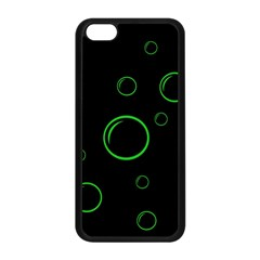 Green buubles pattern Apple iPhone 5C Seamless Case (Black)