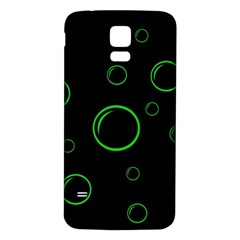 Green buubles pattern Samsung Galaxy S5 Back Case (White)
