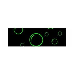 Green buubles pattern Satin Scarf (Oblong)