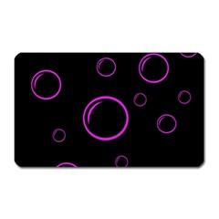 Purple bubbles  Magnet (Rectangular)