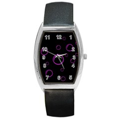 Purple bubbles  Barrel Style Metal Watch