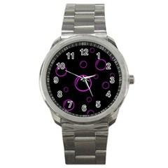 Purple bubbles  Sport Metal Watch