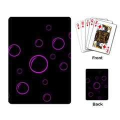 Purple bubbles  Playing Card