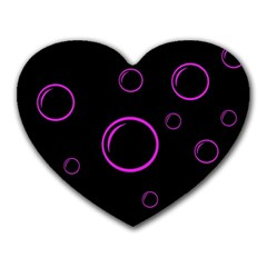 Purple bubbles  Heart Mousepads