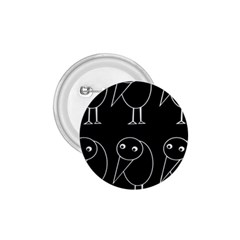 Black and white birds 1.75  Buttons