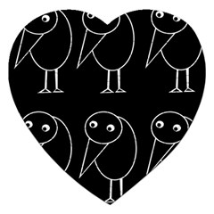 Black and white birds Jigsaw Puzzle (Heart)