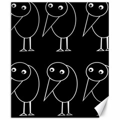 Black and white birds Canvas 20  x 24