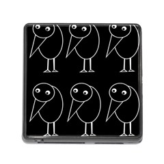 Black and white birds Memory Card Reader (Square)