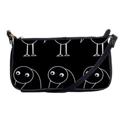 Black and white birds Shoulder Clutch Bags