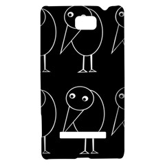 Black and white birds HTC 8S Hardshell Case
