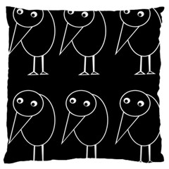 Black and white birds Standard Flano Cushion Case (One Side)