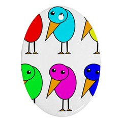 Colorful birds Ornament (Oval)
