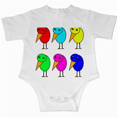 Colorful birds Infant Creepers