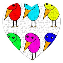 Colorful birds Jigsaw Puzzle (Heart)