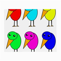 Colorful birds Small Glasses Cloth