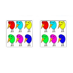 Colorful birds Cufflinks (Square)