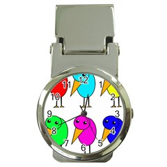 Colorful birds Money Clip Watches