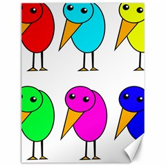 Colorful birds Canvas 12  x 16