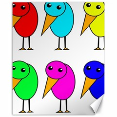 Colorful birds Canvas 16  x 20