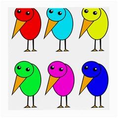 Colorful birds Medium Glasses Cloth (2-Side)