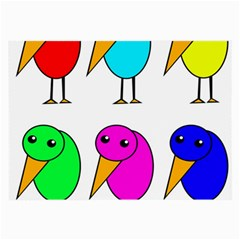Colorful birds Large Glasses Cloth (2-Side)