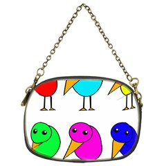 Colorful birds Chain Purses (One Side)