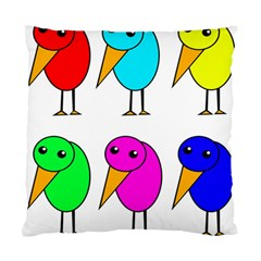 Colorful birds Standard Cushion Case (Two Sides)